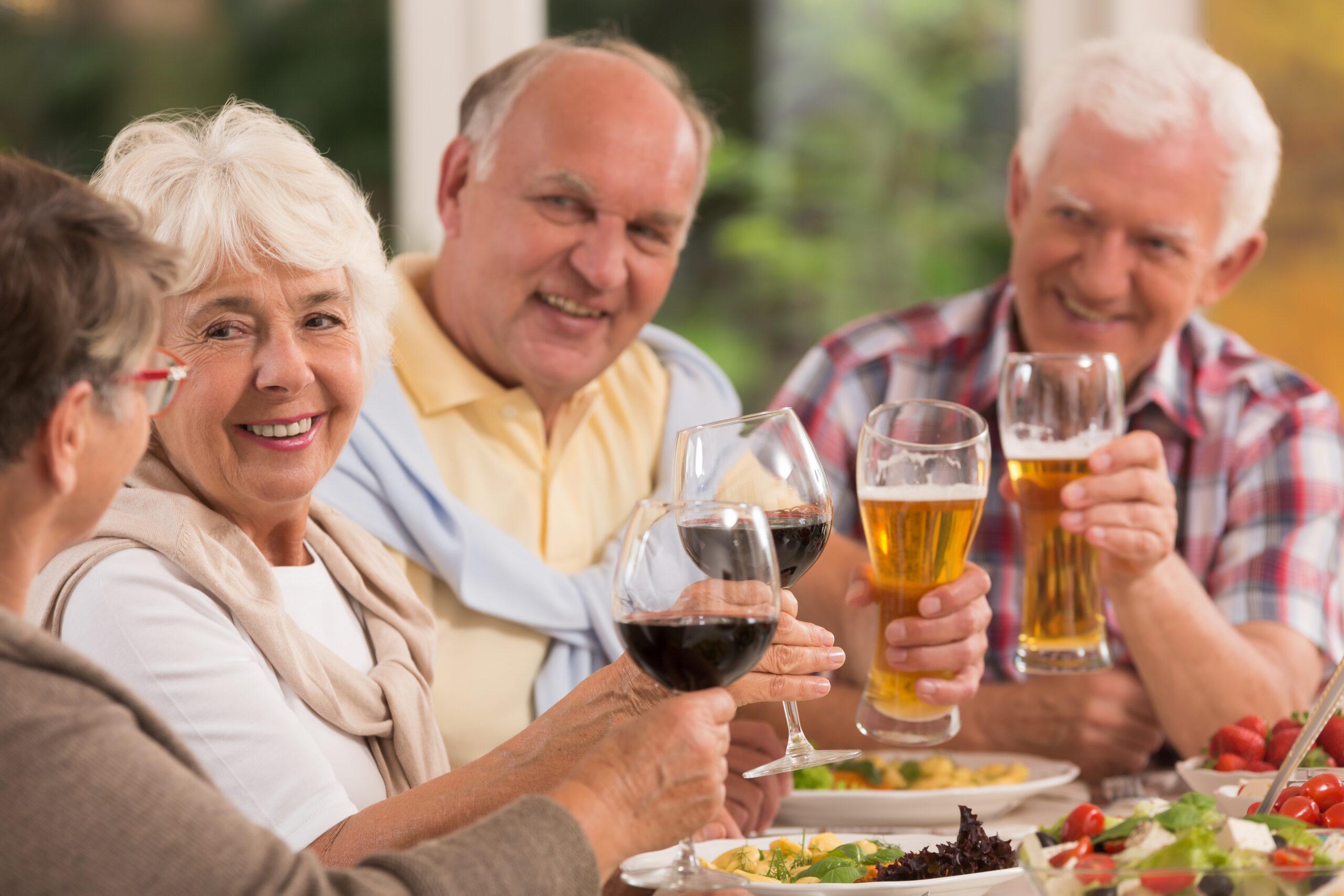 Seniors at dinner